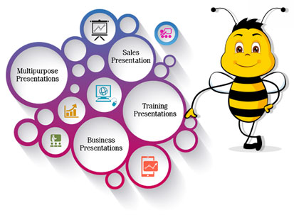 Powerpoint Corporate Business Presentation  Interactive Bees
